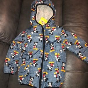 Mickey Mouse Puffer Jacket with Sherpa lining